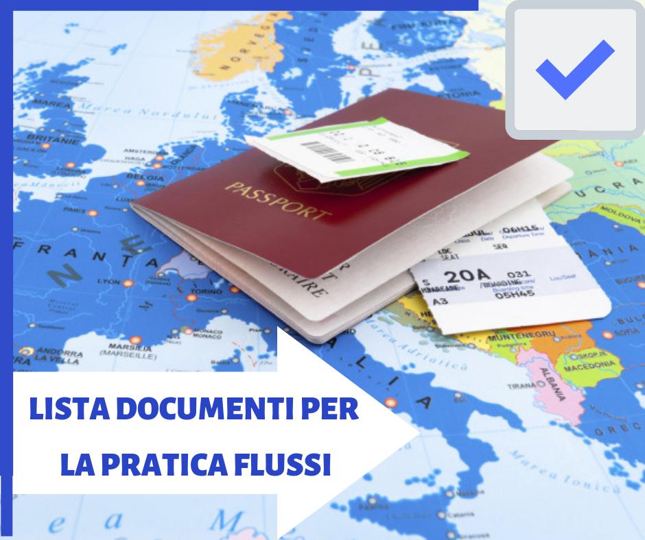 Lista documenti pratica decreto flussi 2019 – studio legale Imperia ...